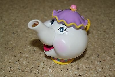 "Disney Beauty and the Beast MRS. POTTS TEAPOT 3 1/2"" plastic toy"