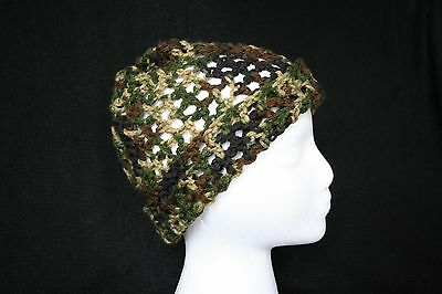 (Womens Crochet Mesh Hat - Doubles as Cowl/Neck Warmer - Free Shipping - Nice!)