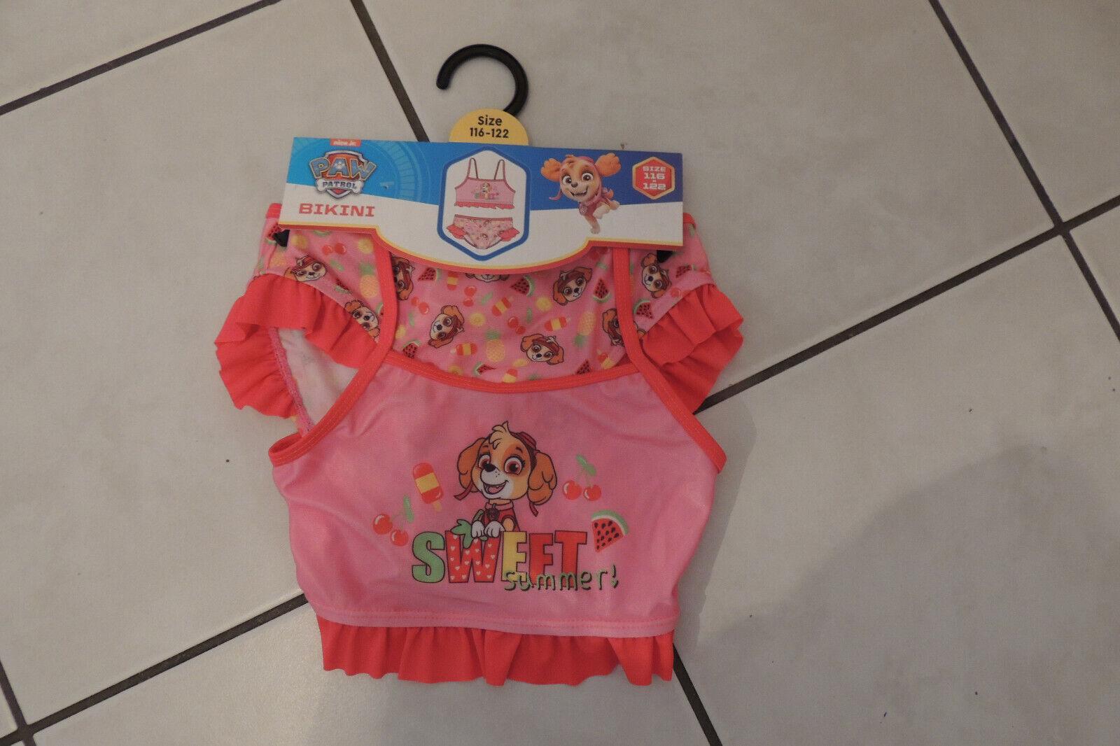 Bikini Swimsuit Mädchen Sommer Badeanzug Paw Patrol Gr 92,98,104,110,116,122 Neu