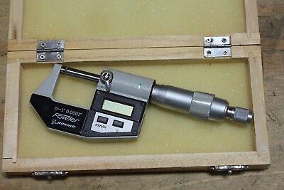 Fowler 0-1 0-25mm Digital Micrometer Machinist Tool