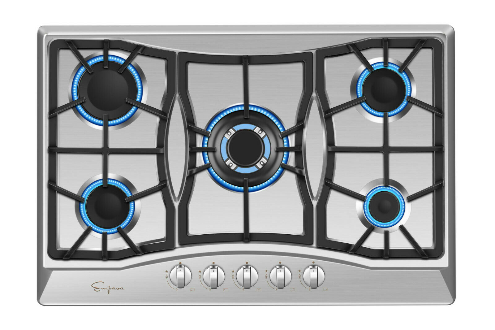 Empava 30 inch Gas Stove Cooktop 5 Italy Sabaf Burners Stain