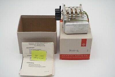 Vintage General Radio Co Decade Capacitor 980-l With Box And Instructions