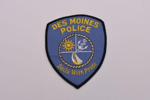 Des Moines Washington Collectible Police Shoulder Patch