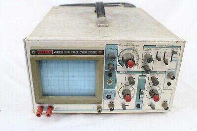 Rare Vintage Eico 482 Analog 2 Channel Dual Trace Oscilloscope