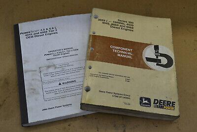 1999 John Deere 3029 4039 4045 6059 6068 Technical Manual Ctm8 And Operators