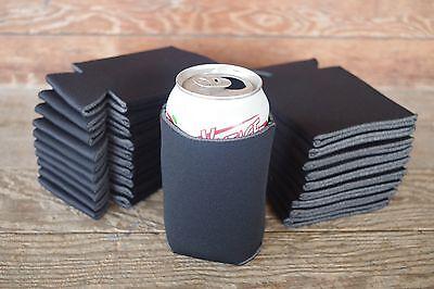 LOT of 200 BLACK Can Blank Beer Soda Coolers Printable Koozie Huggies Holder NEW