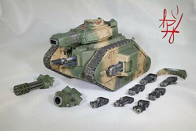 Signature US Artisan 40k Built, Painted & Magnetized Leman Russ Demolisher Tank
