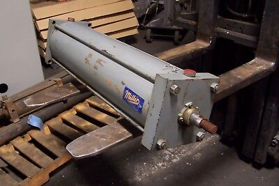 Miller Pneumatic Cylinder 7 Bore 28 Stroke 34 Npt 500 Psi Ar64b