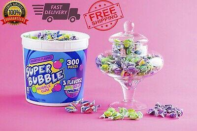 Super Bubble Gum (Super Bubble Gum Candy Bulk Original Flavor Assorted Flavors 300 Pieces)
