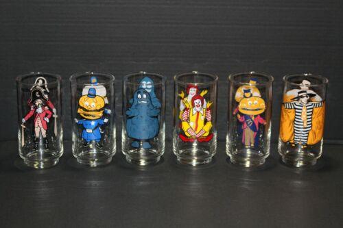 Vintage McDonalds 70s Collector Series Libbey Glasses Complete Set of 6