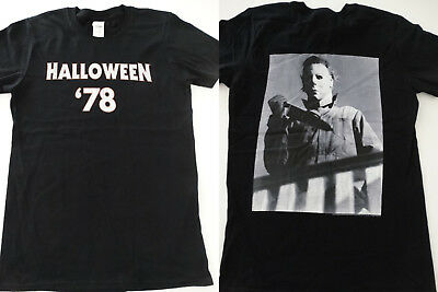 Michael Myers Halloween 1978 Horror Movie Boogeyman Front and Back - Halloween 1978 T-shirt