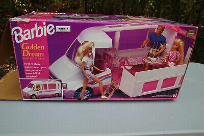 Vintage 1992 Barbie Golden Dream Motor Home Camper RV Van Doll Playset Mattel