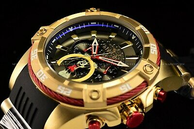 Invicta 52mm Disney Micky Mouse Lim Ed Bolt Viper Chrono Gold Black Combat Watch