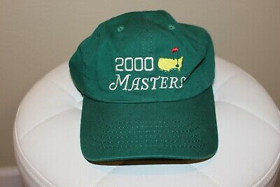 338967f3909906 Vintage Masters Golf Hat Cap Augusta National 2000 Green American Needle NOS
