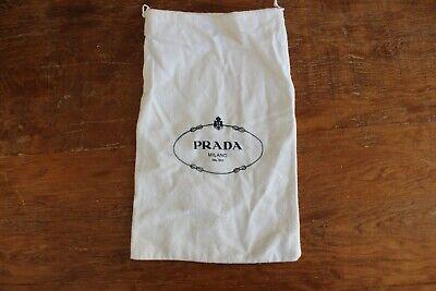 "Prada Drawstring Flannel Dust Bag Purse Handbag Shoe Storage Cover 13"" x 8"""