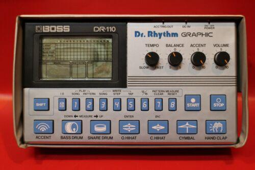 USED BOSS DR-110 Dr.Rhythm DR 110 Drum Machine Sequencer w/org.case U685 190904