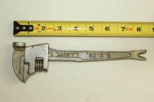 j) Vintage Adjustable Wrench Hammer by G.M.Co. L.I. CITY N.Y.