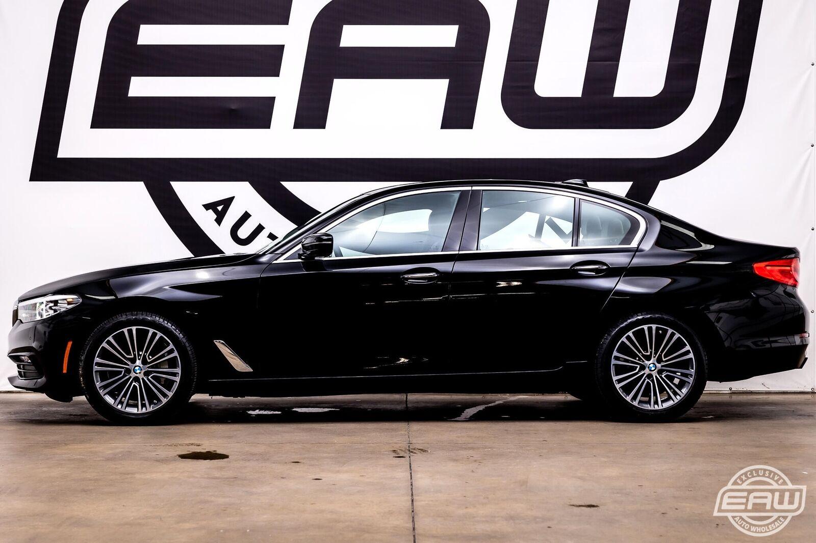 2018 BMW 5 Series 540i Sedan 24218 Miles Black Sedan 3.0L 6 Cylinder Turbo Autom