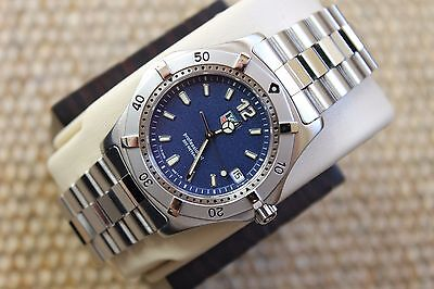 Tag Heuer NEW 2000 WK1113.BA0311 Classic Professional SS Watch Mens BLUE Mint
