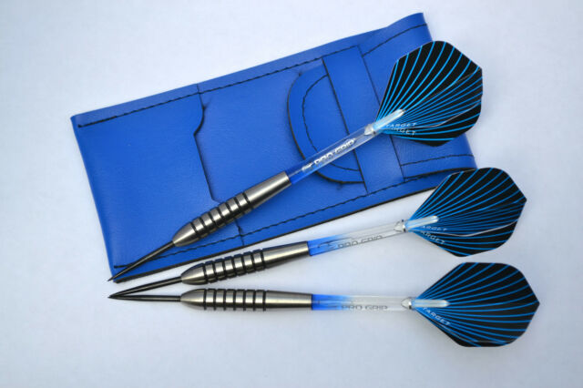 TUNGSTEN DARTS SET TARGET VISON STEMS AND FLIGHTS 28g