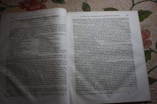 1856 Fragment Zeitschrift Bergbau / Steinkohle England Schottland 100 Seiten