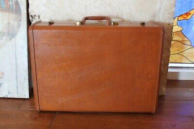 Vintage Brown Samsonite Shwayder BROS. Hard Shell Train Suitcase Luggage Case