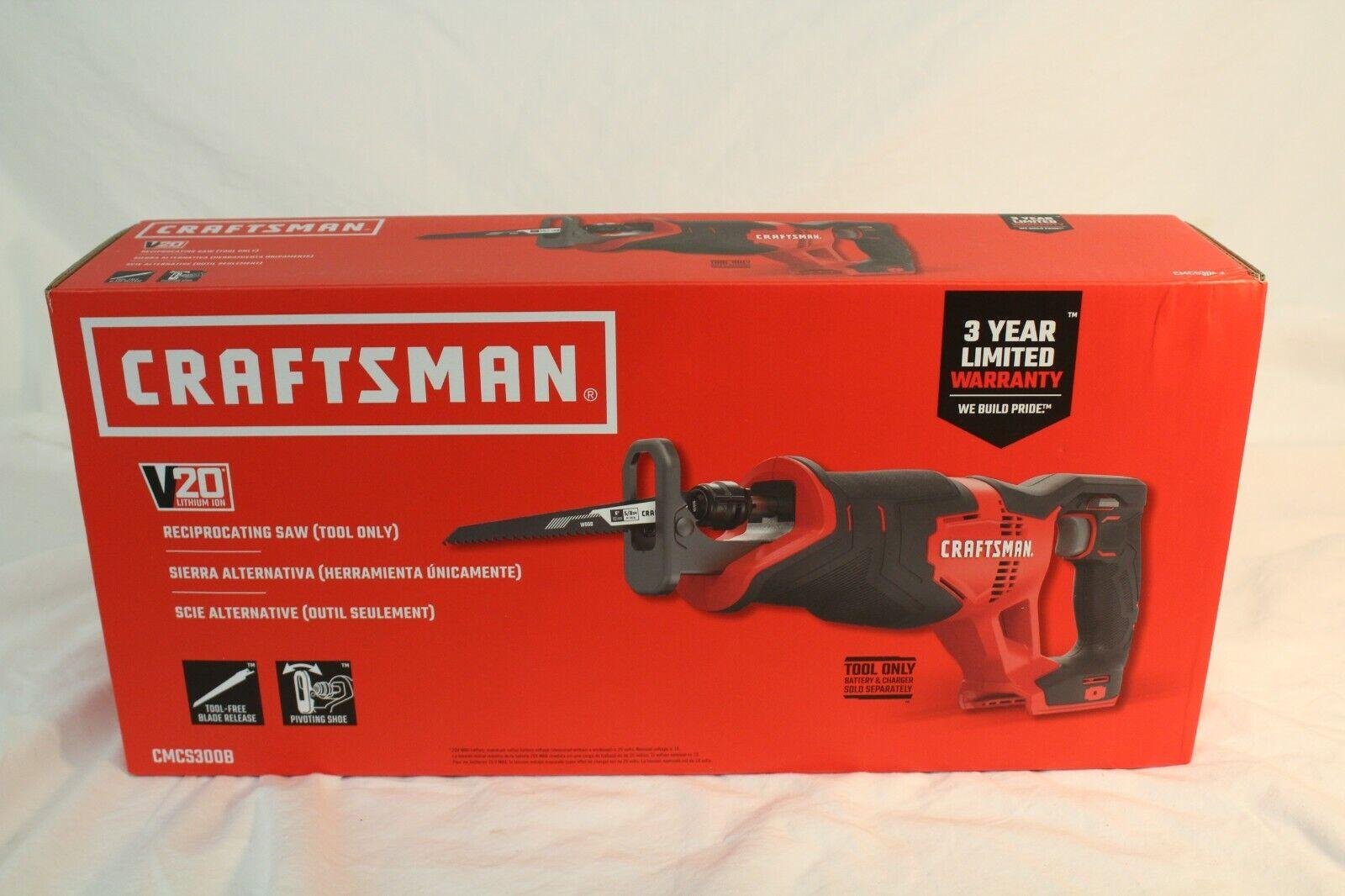 CRAFTSMAN CMCS300B V20 Cordless Reciprocating Saw