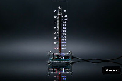IN-13 NIXIE TUBE THERMOMETER NIXIETHERM FULLY ASSEMBLED RGB LED WITH  ENCLOSURE