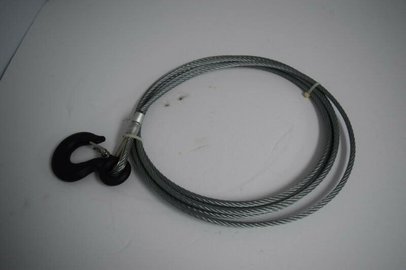 """Little Mule Wire Rope and Hook Assembly 9/32"""" Diameter, 7X19 Galvanized, 15"""