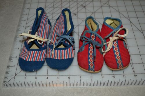 Two Pair Of Vintage Child Toddler Baby Shoes