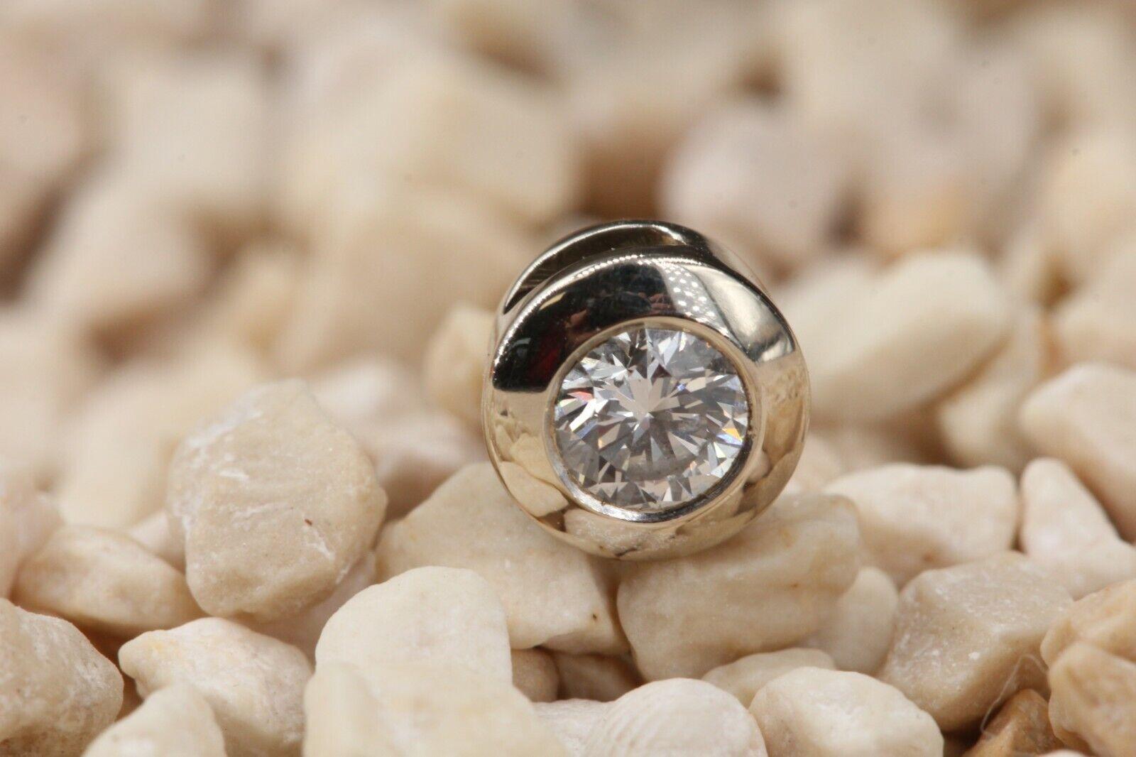 CHRIST Anhänger Diamant Gold 585 Weißgold 14K Brillant 0,25 ct. W SI Länge 6,5mm