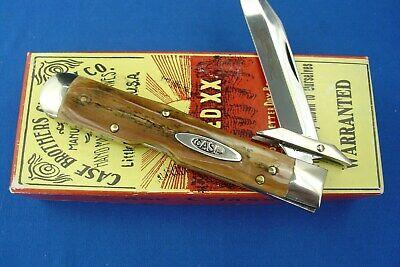 Case Classic61011 1/2 Genuine Mastodon BarkCase XX Cheetah Knife PROTOTYPE