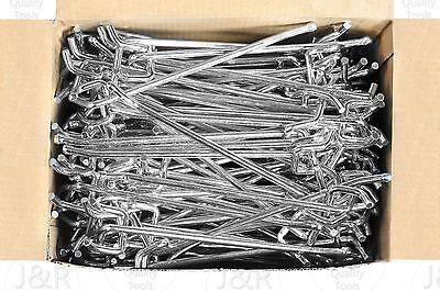 100 Pc 6 X 14 Peg Board Hooks Shelf Hanger Kit Garage Storage Hanging Set