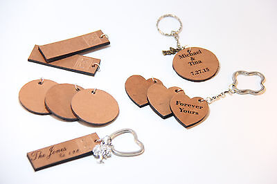 Bulk 20 PC; Leather Key Chain,Laser Engrave, Personalize,Logo,Wedding, In Memory (Keychain Chains In Bulk)