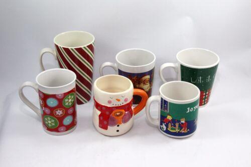 Christmas Mugs Lot of 6