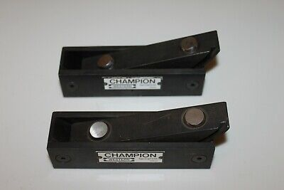 2 Champion Leveling Blocks Leveler Machinist Cnc Level Vg Condition 714