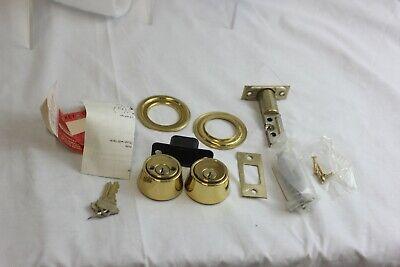 Schlage Double Cylinder Deadbolt - Bright Brass Keyed B162n 605 Ka4