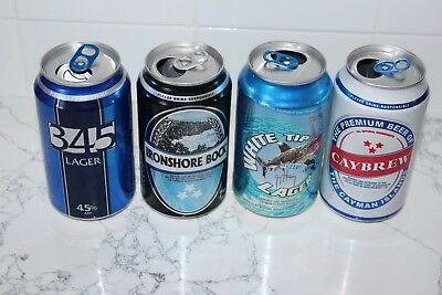 Rare Collection  4  Cayman Islands Brewery Cans White Tip Caybrew 345 Ironshore