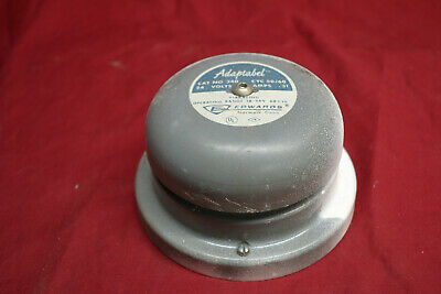 Vintage Gray Edwards Adaptabel Cat. No. 340 Audible Signal Fire Alarm Bell