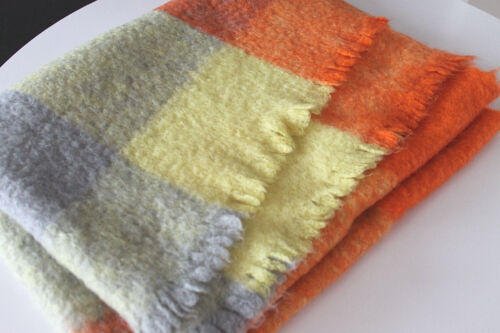 """Danish Modern 100% Felted Wool Hand Woven Throw/Blanket 67""""x46"""" Color Supreme!"""