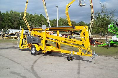 Haulotte 5533a 61 Work Height Towable Boom Lift 33 Outreach Auto Leveling