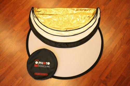 """Excellent Photo Basics 5-in-1 Collapsible Circular 42"""" Reflector #31441"""