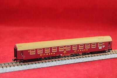 """Minitrix 15698-01 DR Y-Schlafwagen""""Mitropa"""" in rot/braun/NEU"""