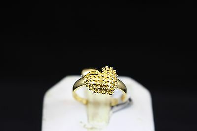 One Of A Kind 22k Gold Fancy Heart Ring HandMade - 100% Authentic Jewelry 22k Gold Fancy Ring