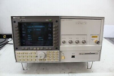 Hp 70340a Signal Generator And Hp 7000a Display 1-20 Ghz Calld With Cert Opt 1