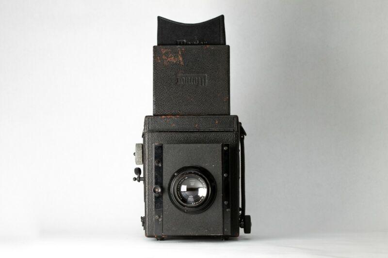 Mentor Reflex SLR 9x9cm Camera w/ Carl Zeiss Tessar 13.5cm f4.5 Lens USA SELLER