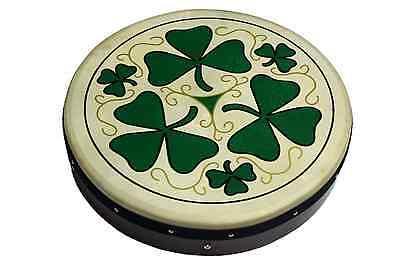 Irish Bodhran mit SHAMROCK Logo, 18 x 3,5 Zoll, Stimmbar