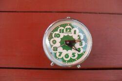 Vintage alarm clock, mechanical wind up clock, soviet USSR Russian