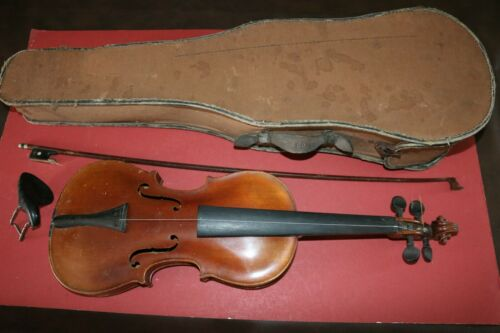 HIGH-END Antique Stainer violin with tiger maple wood back includes bow and case