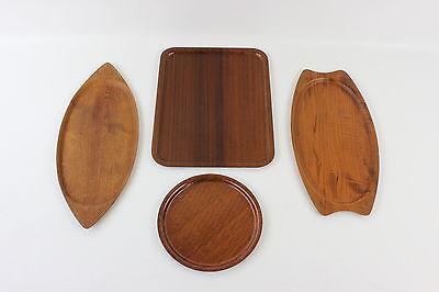 4 x Scandinavian plywood trays. Vintage. Teak. Swedish. Norwegian. Danish